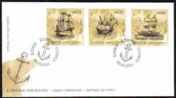 Cyprus Stamps SG 1251-53 2011 Tall Ships - Official FDC