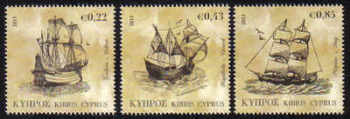 Cyprus Stamps SG 1251-53 2011 Tall Ships - MINT