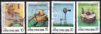 Cyprus Stamps SG 910-13 1996 Mills - USED (e231)