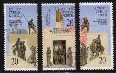 Cyprus Stamps SG 880-82 1995 Eoka - USED (e227)