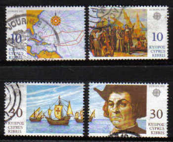 Cyprus Stamps SG 818-21 1992 Europa Discovery of America - USED (e222)