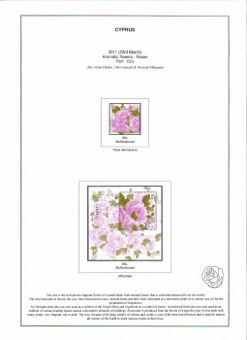 Cyprus stamp collector album. Page 372 (2011 Aromatic Flowers, Roses)