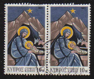 Cyprus Stamps SG 382 1971 Christmas - USED (e264)