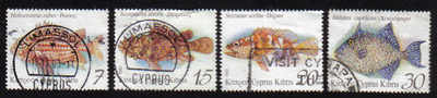Cyprus Stamps SG 837-40 1993 Fish - USED (e257)