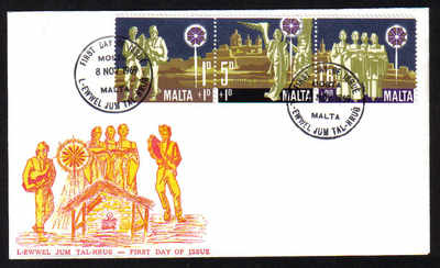 Malta Stamps SG 0427-29 1969 Christmas Childrens Welfare Fund - Official Fi