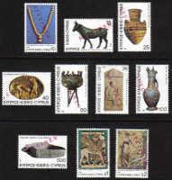 Cyprus Stamps SG 545 1980 5th Definitives - Specimen Part set MINT (e189)