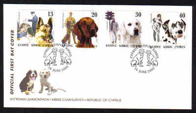 Cyprus Stamps SG 1098-01 2005 Dogs in a mans life - Official FDC