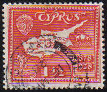 Cyprus Stamps SG 125 1928 One and a half Piastres - USED (e288)