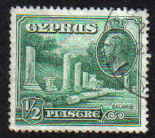 Cyprus Stamps SG 134 1934 1/2 Piastre - USED (e284)
