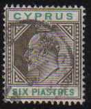 Cyprus Stamps SG 067 1904 Six Piastres - USED (e306)