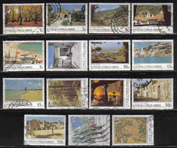 Cyprus Stamps SG 648-62 1985 6th Definitives Scenes - USED (e344)