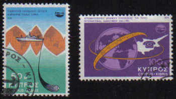 Cyprus Stamps SG 449-50 1975 Telecommunication achievements - USED (e351)