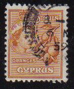 Cyprus Stamps SG 175 1955 QEII  5 Mils - USED (e358)
