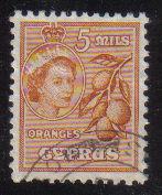Cyprus Stamps SG 175 1955 QEII  5 Mils - USED (e359)
