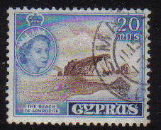 Cyprus Stamps SG 178 1955 QEII  20 Mils - USED (e364)