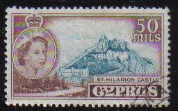Cyprus Stamps SG 183 1955 QEII  50 Mils - USED (e375)