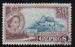 Cyprus Stamps SG 183 1955 QEII  50 Mils - USED (e375)