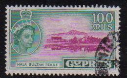Cyprus Stamps SG 184 1955 QEII  100 Mils - USED (e378)