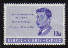 Cyprus Stamps SG 256 1965 10 Mils John F Kennedy - MINT