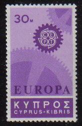 Cyprus Stamps SG 303 1967 30 Mils Europa Cogwheel - MINT