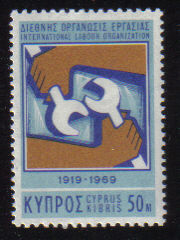 Cyprus Stamps SG 327 1969 50 Mils International Labour Organisation - MINT