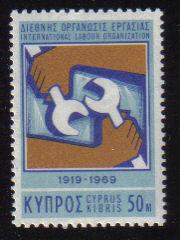 Cyprus Stamps SG 327 1969 50 Mils International Labour Organisation - MINT