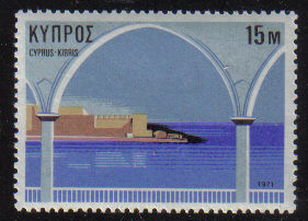 Cyprus Stamps SG 378 1971 15 Mils Tourism Year - MINT