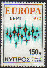 Cyprus Stamps SG 389 1972 150 Mils Europa Communications - MINT