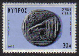 Cyprus Stamps SG 394 1972 30 Mils Ancient Coins - MINT