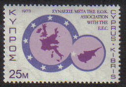 Cyprus Stamps SG 412 1973 25 Mils Anniversaries and Events - MINT