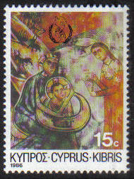Cyprus Stamps SG 693 1986 15 cent Christmas - MINT