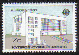 Cyprus Stamps SG 704 1987 7 cent Europa modern architecture - MINT