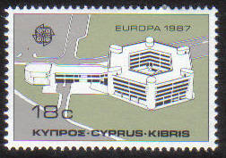 Cyprus Stamps SG 705 1987 18 cent Europa modern architecture - MINT