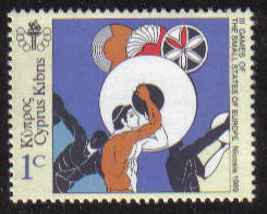 Cyprus Stamps SG 735 1989 1c Small European State Games - MINT
