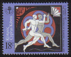 Cyprus Stamps SG 738 1989 18 cent Small European State Games - MINT