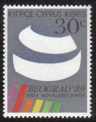 Cyprus Stamps SG 746 1989 30 cent Non-aligned conference - MINT