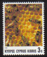 Cyprus Stamps SG 748 1989 3 cent Bees - MINT