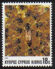 Cyprus Stamps SG 751 1989 18 cent Bees - MINT