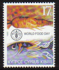 Cyprus Stamps SG 755 1989 17 cent - MINT