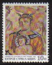 Cyprus Stamps SG 762 1989 10 cent Mosaics - MINT