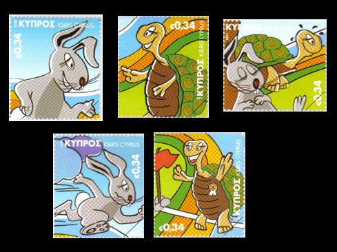 Childrens Stamp Set 5th October 2011 Aesops Fables