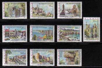 North Cyprus Stamps SG 010-19 1975 Architecture - MINT