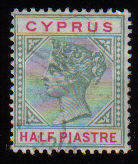 Cyprus Stamps SG 040 1896 Half Piastre - USED (c623)