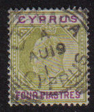 Cyprus Stamps SG 066 1905 Four Piastres - USED (d962)
