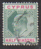 Cyprus Stamps SG 062 1904 Half Piastre - USED (d173)