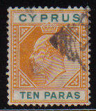 Cyprus Stamps SG 061 1906 Ten Paras - USED (d098)