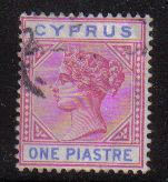 Cyprus Stamps SG 042 1896 One Piastre - USED (d623)