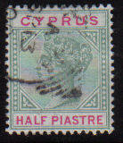Cyprus Stamps SG 040 1896 Half Piastre - USED (d035)
