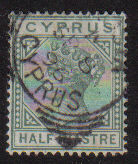 Cyprus Stamps SG 031 1892 Half Piastre - USED (d907)
