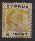 Cyprus Stamps SG 060 1908 5 Paras - USED (e432)